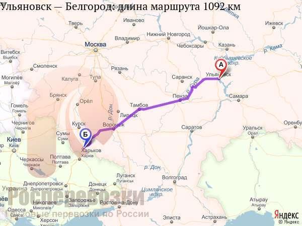 Маршрут белгород саратов карта фото